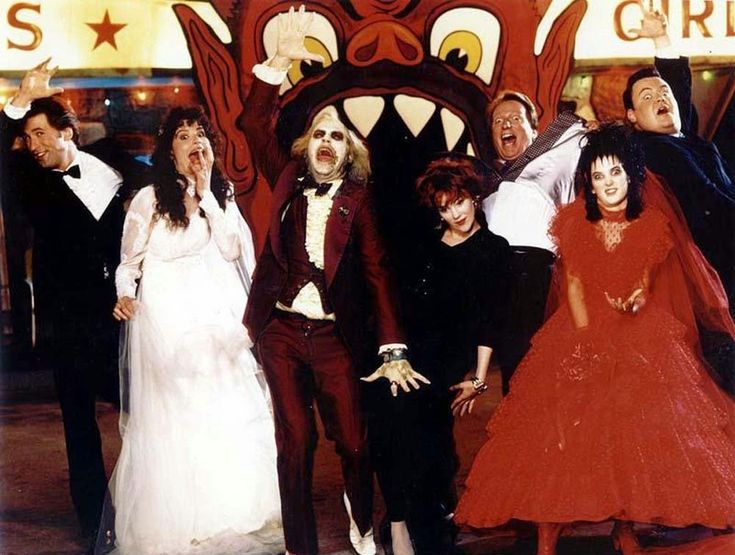 beetlejuice, cast, tim burton, behind the scenes