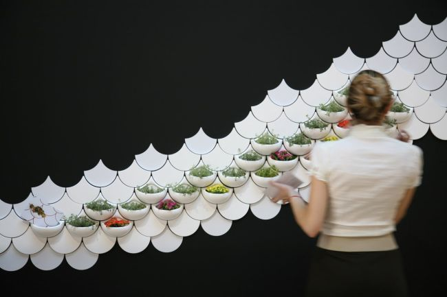 Planter Wall Tiles by Maruja Fuentes