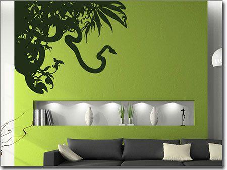 Wandtattoo Dschungel, | Aufkleber für die Wand
