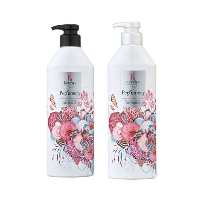 KERASYS Perfumery Shampoo & Conditioner(LOVELY ANGEL) 600ml+600ml 2pcs set #KERASYS