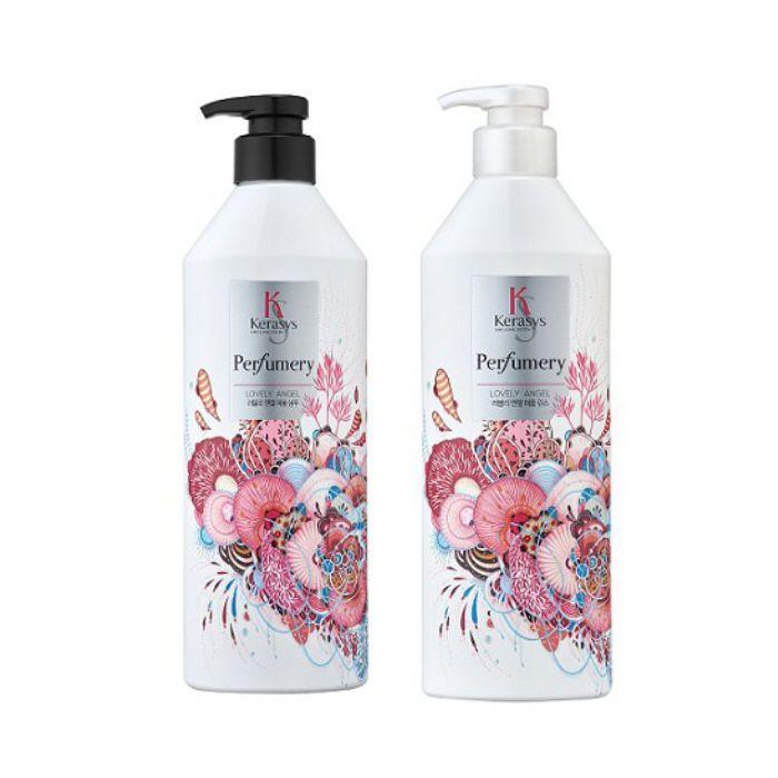 KERASYS Perfumery Shampoo & Conditioner(LOVELY ANGEL) 600ml+600ml 2pcs set #KERASYS