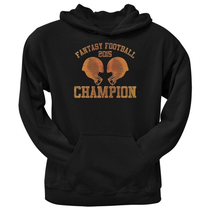 Fantasy Football Champion 2015 Black Adult Pullover Hoodie