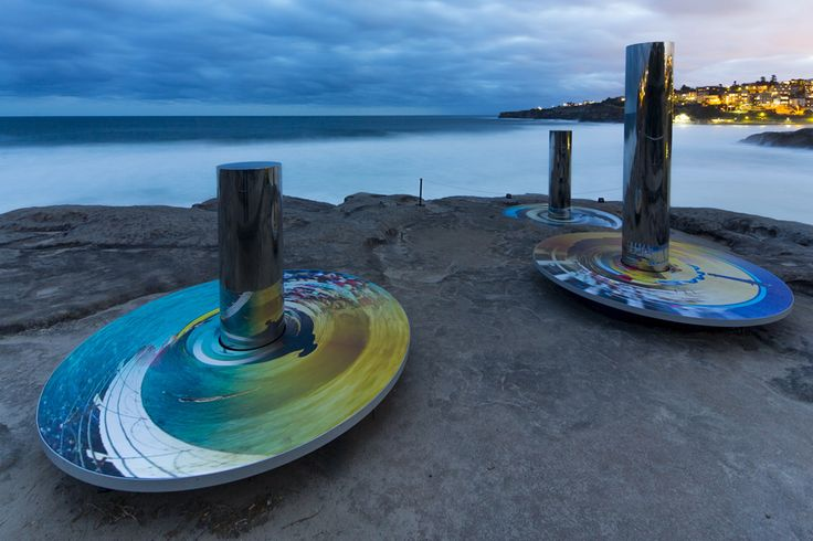 Coast Totems for Sculpture by the Sea 2014 - carterwilliamson architects | Award Winning Sydney Architect