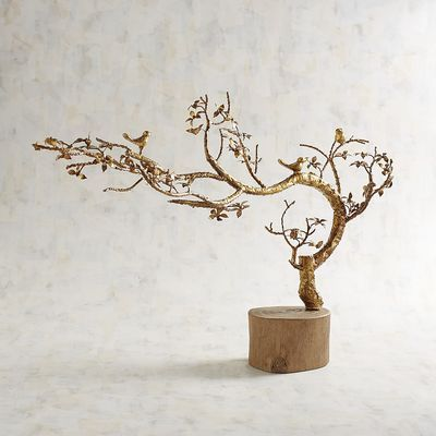 Golden Tree with Birds