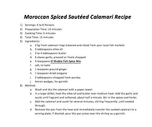 Moroccan Spiced Sautéed Calamari Recipe