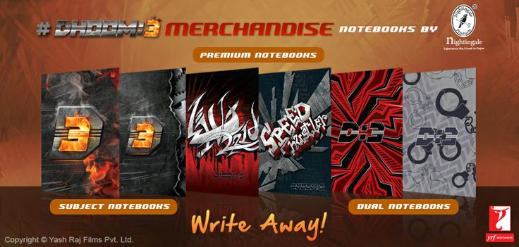 Write your inspiration, your subject notes or anything else! These #Dhoom3Merchandise diaries by Nightingale Paper products are your perfect companion!  Get these diaries today ➔ http://nightingale.co.in/