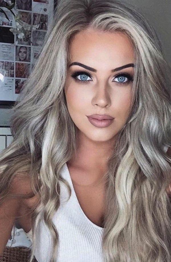 Grey Hair Color For Fair Skin Best Hair Color For Your Skin Tone Fall Hair Color Ide Platinum Blonde Hair Color Hair Color For Women Platinum Blonde Hair