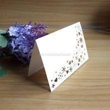 50 del fiore del cuore Tagliato Al Laser Nome Luogo Carte di Nozze Ospite Tavolo Mark Segnaposto Wedding Party Decorazione Della Tavola Bianco(China (Mainland))