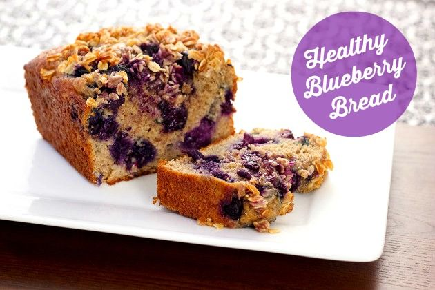Healthy Blueberry Bread Loaf
