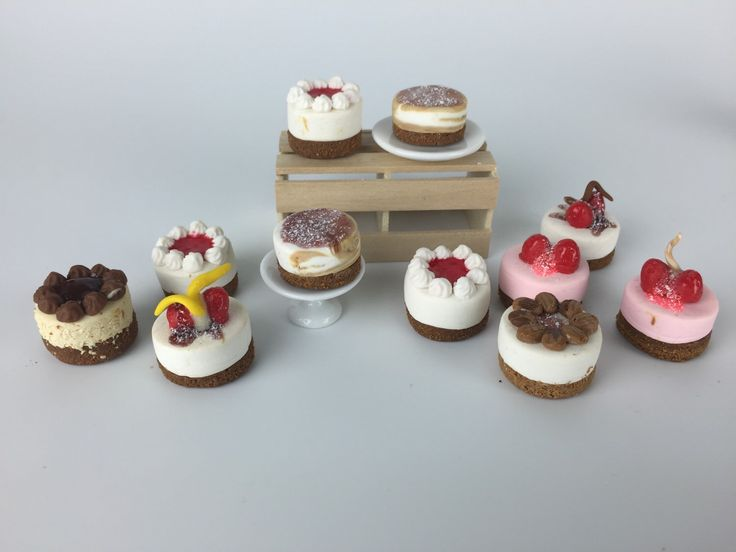 A personal favorite from my Etsy shop https://www.etsy.com/listing/235350498/cheescakes-dollhouse-food