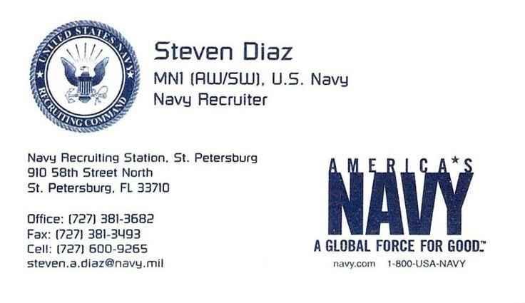Navy Recruiter for Saint Petersburg, Florida