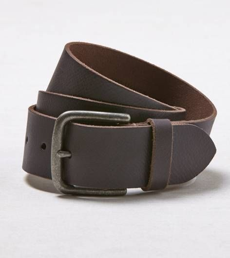 Brown AEO Classic Leather Belt. Show us your #AEOSTYLE on Instagram or Twitter for a chance to be featured on AE.com.