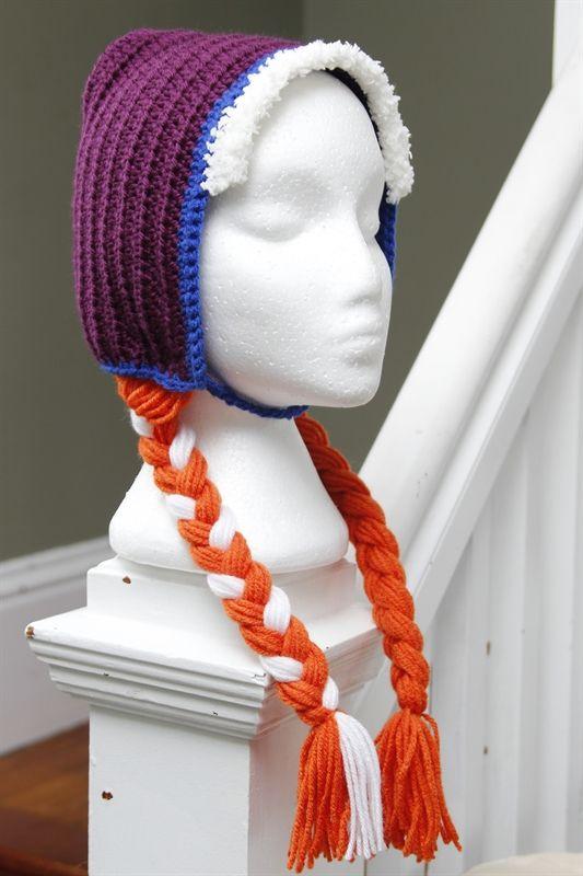 Crochet Pattern Anna Hat : Princess Anna crochet hat Crochet Pinterest