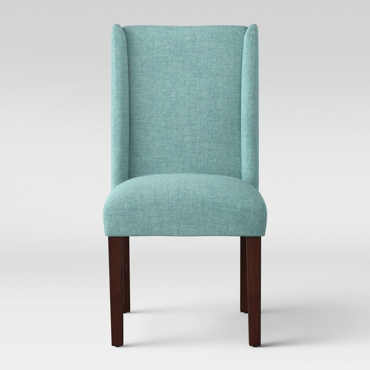 Lowell Modified Wingback Dining Chair Teal Blue