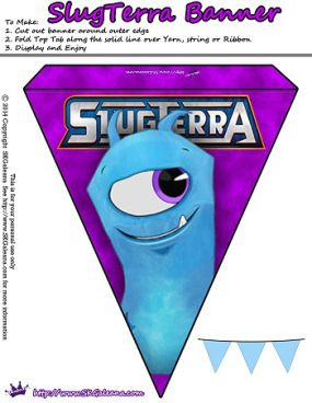 Slugterra printable Chiller banner ~ Free Slugterra Party Printables, and Crafts | SKGaleana #Slugterra