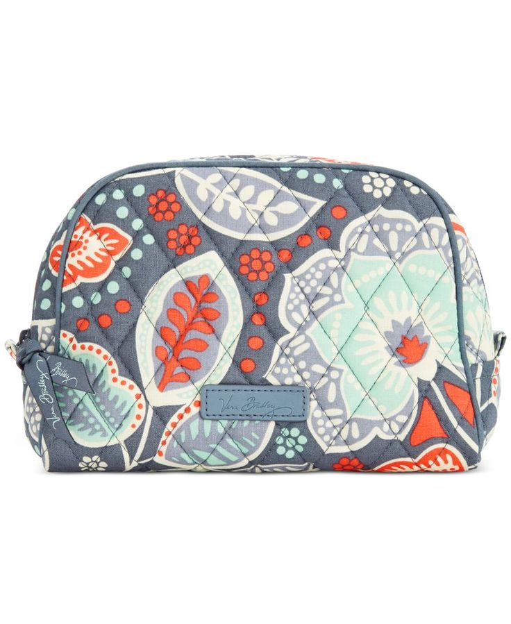 """Wake up your makeup routine with Vera Bradley's punchy-hued pouch you can easily toss in your tote or travel bag, featuring an easy-clean liner. 
