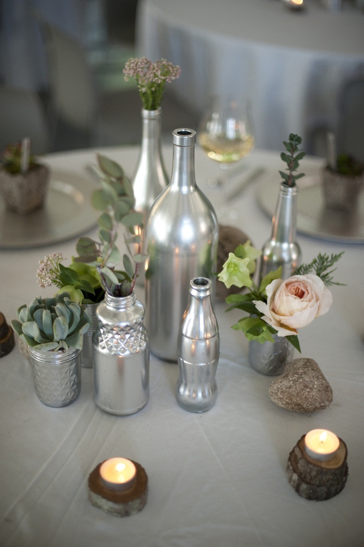 229 best images about reception decor on pinterest for Beer bottle decoration ideas