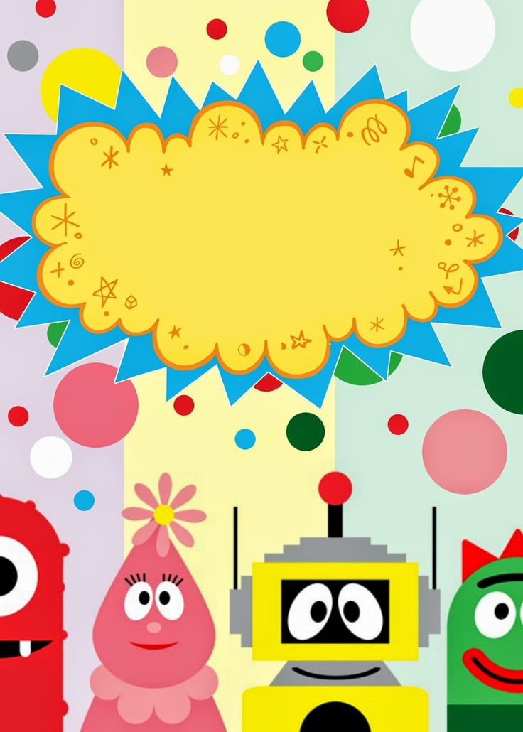 Free YO! Gabba Gabba invitation with instructions to make it fabulous.