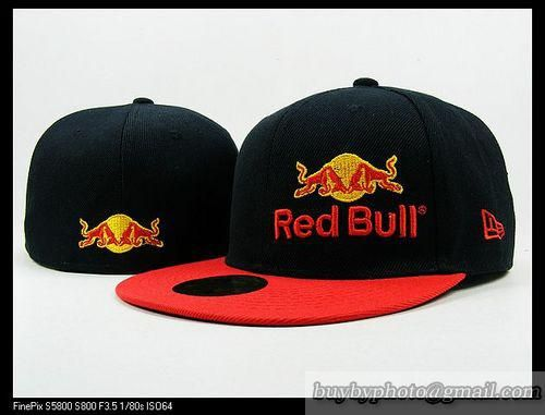 Red Bull 59Fifty Fitted Hats Racing Cap Redbull Hats Black Red 77e73a2eaf3