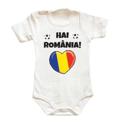 Body bebe pentru micutele si micutii fani ai echipei de fotbal a Romaniei. Hai Romania!