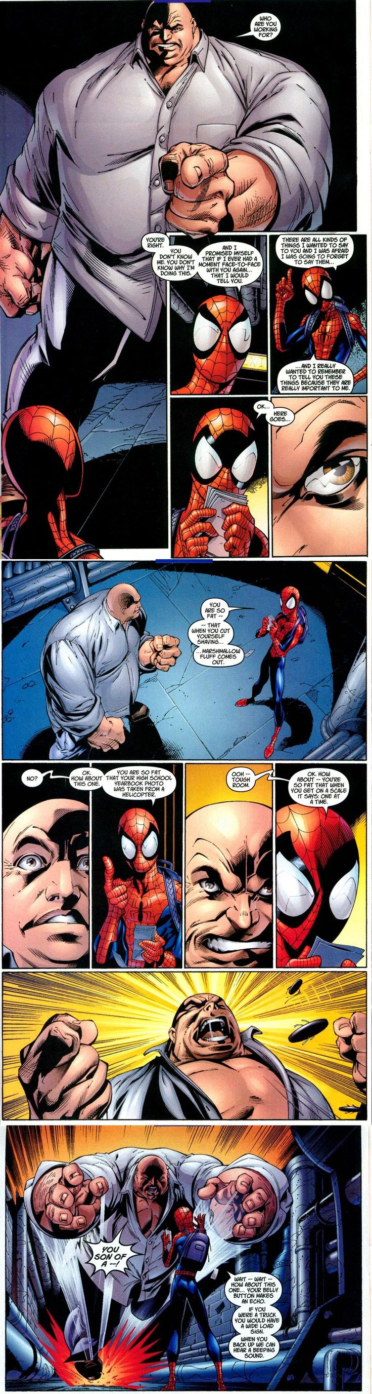 Ultimate Spider-Man & Kingpin ~ say what you will about the Ultimate books: this was one of the funniest books I'd read in a while