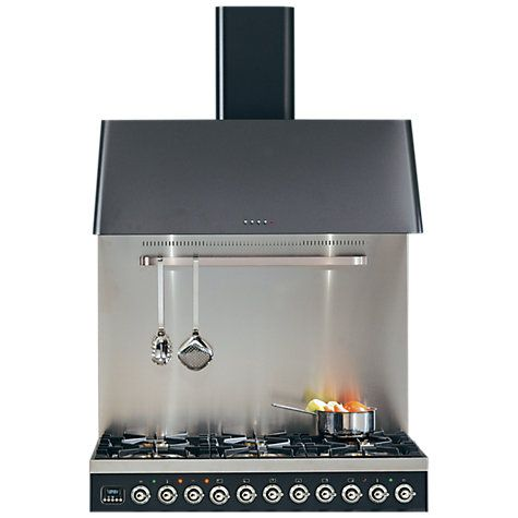 Buy ILVE AGK100 Classic Chimney Cooker Hood, Stainless Steel Online at johnlewis.com