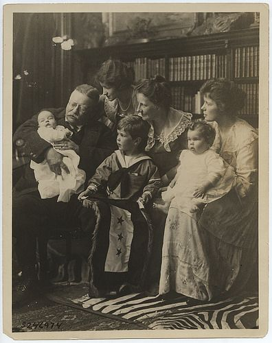 Theodore Roosevelt with His Family at Sagamore Hill in 1918