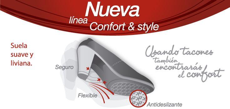 ¿Zapatos altos y cómodos?   Prueba nuestra nueva línea CONFORT & STYLE y comprobarás que en los tacones también encontrarás CONFORT.
