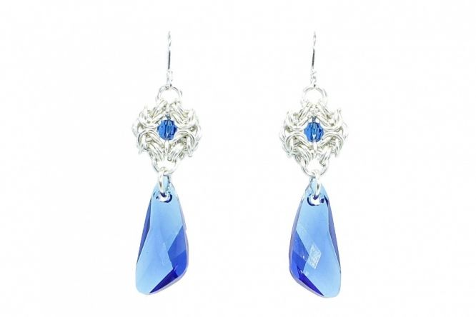 Sterling silver earrings with Swarovski crystals