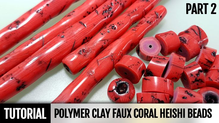How to make Faux Coral Heishi Beads ~ Polymer Clay Tutorials part 2