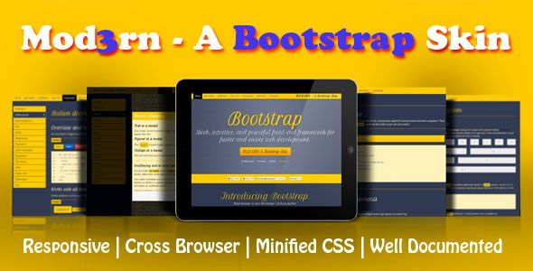 Mod3rn - A Bootstrap Skin . A simple yet powerful responsive bootstrap