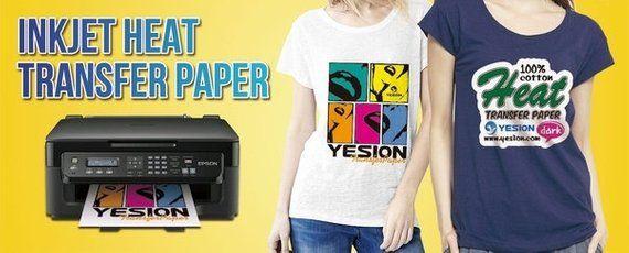INK JET HEAT IRON ON TRANSFER PAPER LIGHT 8.5 X 11-5 SHEETS
