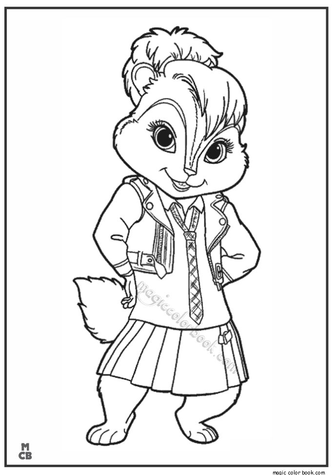 chipmunks coloring pages with flags - photo#4