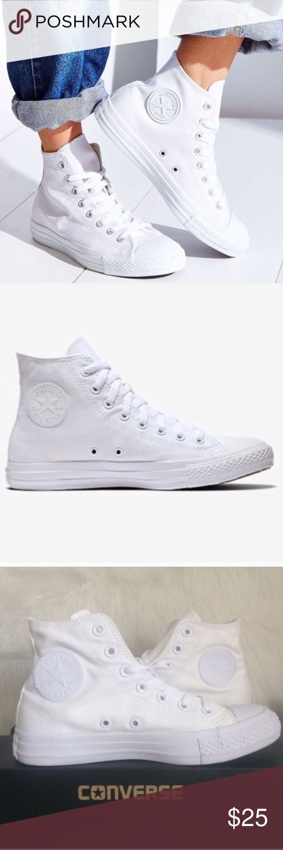 CONVERSE ALL WHITE CHUCK TAYLORS WOMENS SIZE 5 In like new condition. No box Converse Shoes Sneakers