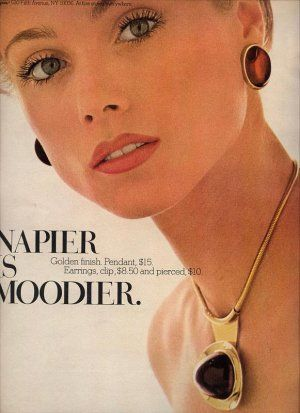 napier ads | Vintage 1975 Napier Necklace Jewelry Print AD