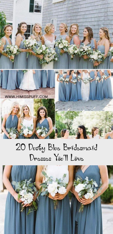 dusty blue wedding color ideas - dusty blue bridesmaid dresses  #weddings #wedding #blueweddings #weddingcolors #weddingideas #dustyblue #beautiful #dresses #bridesmaid #AfricanBridesmaidDresses #GrayBridesmaidDresses #BlackBridesmaidDresses #SilverBridesmaidDresses #BlushBridesmaidDresses