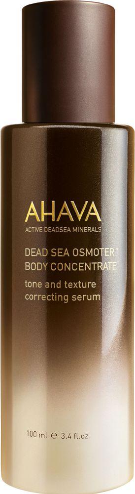 Ahava Dead Sea Osmoter Body Concentrate Serum bevat een gebalanceerde concentratie van Dode Zee mineralen, versterkt met een drievoudige concentratie van AHAVA's merkmiddel de Osmoter TM die het huidvocht herstelt. De combinatie van bruinwieren, Tahitaanse Monoï olie, Marokaanse Arganolie en milde fruitzuren zorgen voor een egale, stralende huid en een verfijnde huidtextuur met als resultaat een fluweelzachte huid met een gezonde uitstraling.