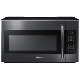 Samsung 1.8-Cu Ft Over-The-Range Microwave With Sensor Cooking Controls (Black Stainless) (Common: 30-In; Actual: 29.875
