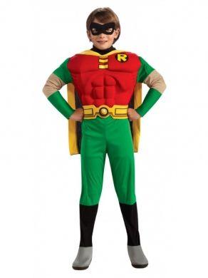 Dziecięcy strój Robina, wiernego pomocnika Batmana