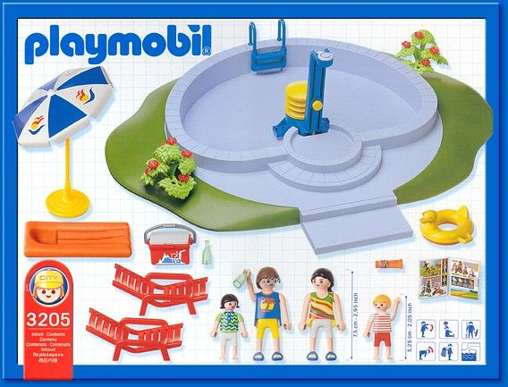 1000 images about playmobil on pinterest post office for Piscine playmobil