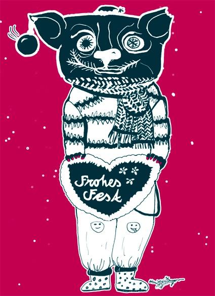 Special Weihanchtspost Das sind einmal Weihnachtskarten der anderen Art. Jede Karte entstand durch ein Umklappspiel mit vier Personen. Einer zeichnete den kopf und klappte es um, dann war der nächste mit der nachfolgenden Körperpartie dran. Diese kleine Auswahl haben wir dann als Postkarten produziert, wenn ihr welche wollt könnt ihr sie bei uns bestellen :) schreibt uns einfach an mailto:studio_hor... gestalten von: Anna Unterstab, Doreen Baldauf, Josefine Taape und Katharina Scholz
