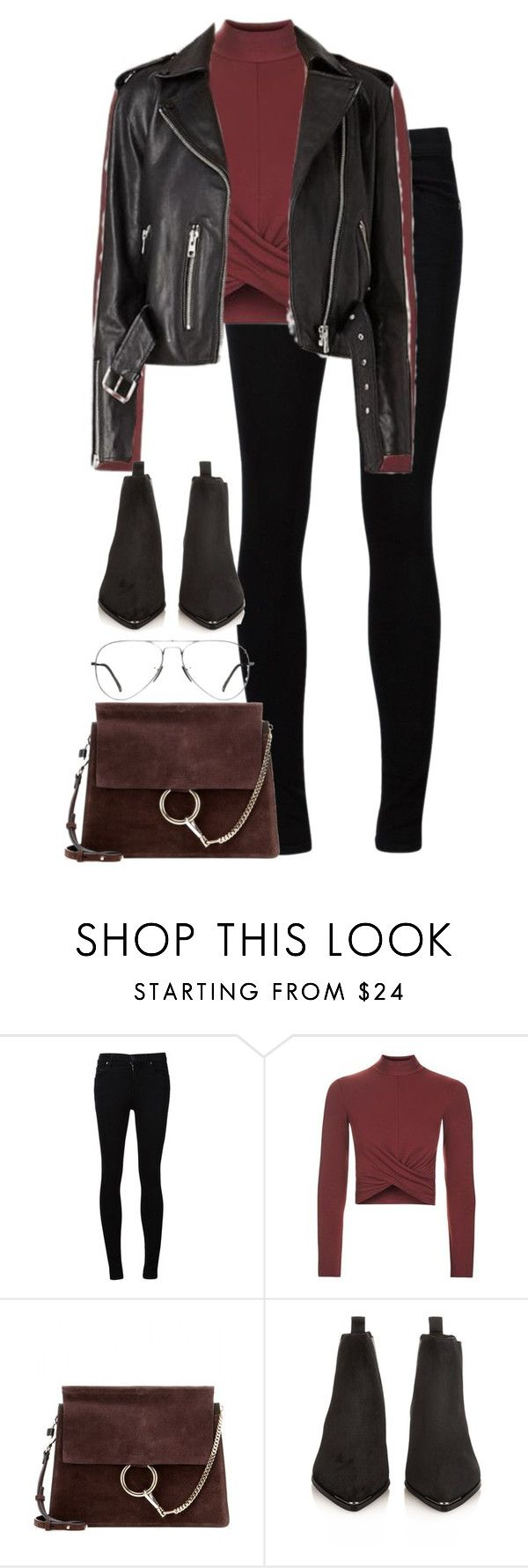 """""""Untitled #2989"""" by elenaday on Polyvore featuring Citizens of Humanity, Topshop, Chloé, Acne Studios and Ray-Ban"""