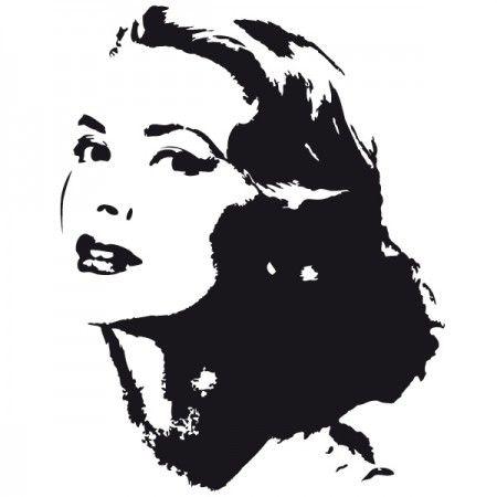 Grace Patricia Kelly war eine US-amerikanische Filmschauspielerin und Oscar-Preisträgerin der 60er Jahre. #Grace #Idol #Mode #Wadeco // http://www.wadeco.de/grace-kelly-wandtattoo.html