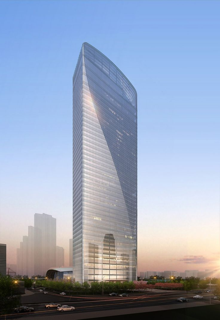 Qintai International Tower Wuhan China By Adrian Smith Gordon Gill Architecture 46 Floors Height
