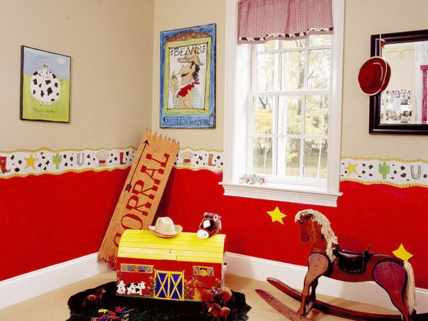 This would be super cute in a farm themed child's room