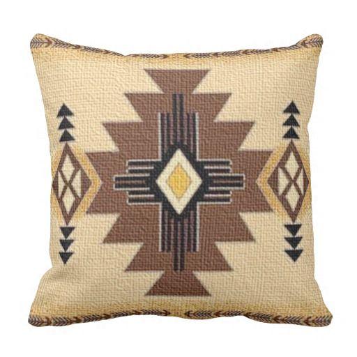 Tribal, Indian, Geometric, Brown Hue