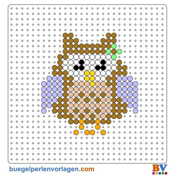 Perler Bead Pattern Owl