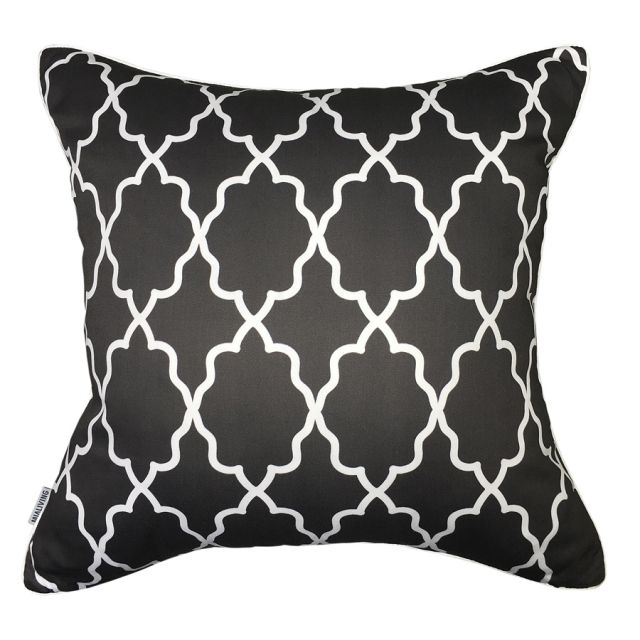 Moroccan Graphite Pillow #pillows #throwpillow #interiors #homedecor #cushions #mialiving