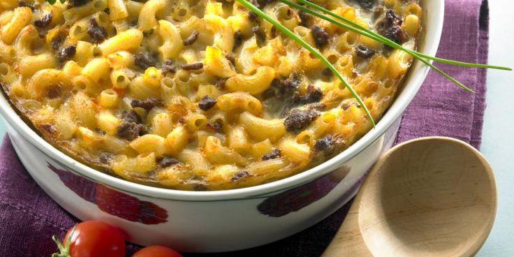 Helppo lihamakaronilaatikko - ilman makaronin keittämistä