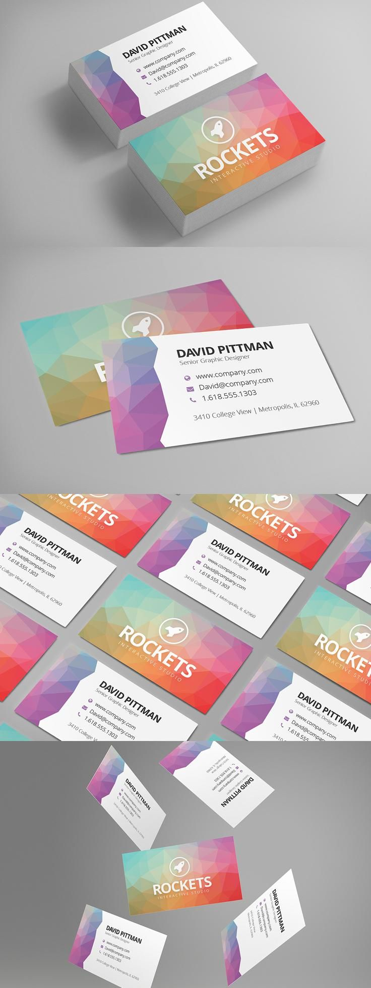 Polygon Business Card Template 66 best